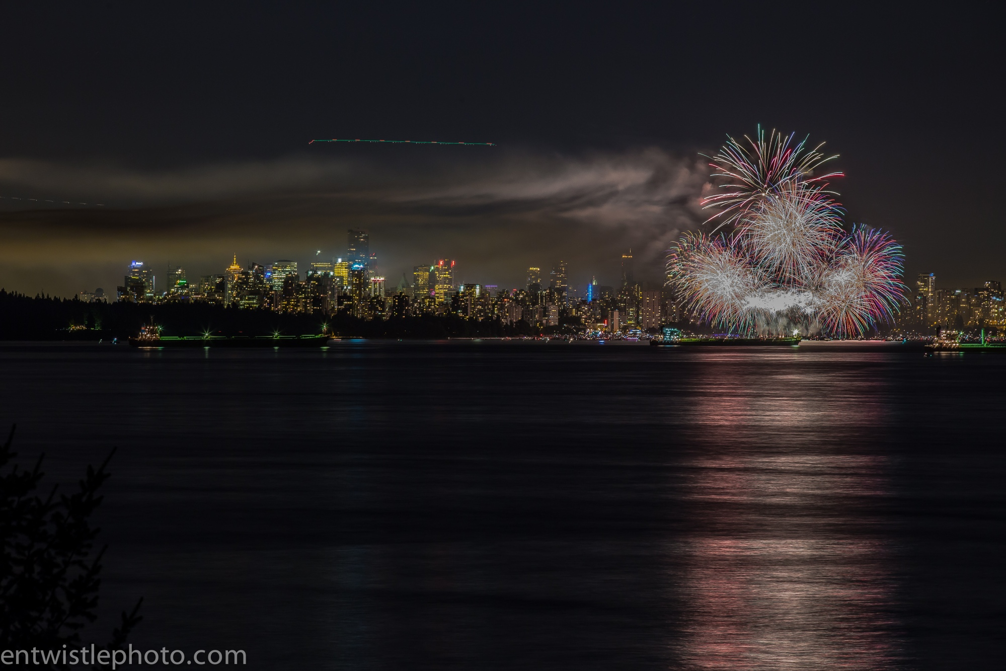 A much more Straight forward shot of fireworks in Vancouver